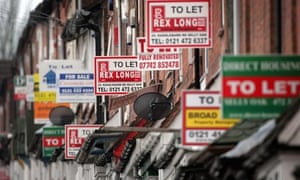 Houses with to let signs
