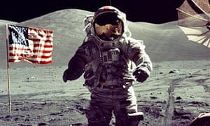 apollo 17 commander Eugene Cernan on moon