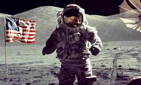 apollo 17 commander Eugene Cernan on moon