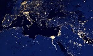 earth city lights