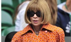Editor of American Vogue, Anna Wintour i
