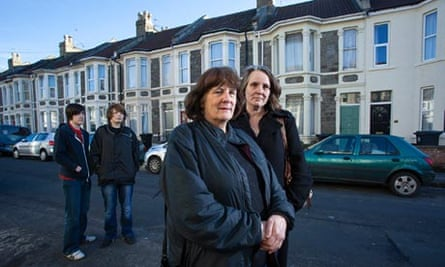 Bristol renters Elspeth and Kirsten Reid, and Kirsten's sons Callan and Ross