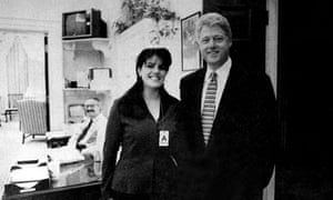 Monica Lewinsky and Bill Clinton photographed together in November 1995