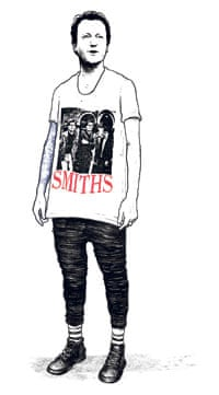 David Cameron illustrated in a Smiths T-shirt