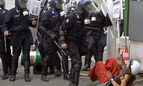 Clashes in Genoa