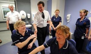 Cameron and Lansley meet nurses