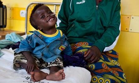 Patrick Mugisha is suffering from acute malnutrition manifesting in chronic wasting.