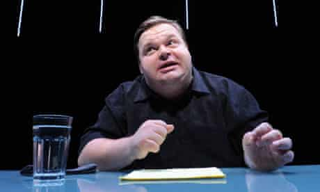 Mike Daisey performs his show The Agony and the Ecstasy of Steve Jobs in New York.