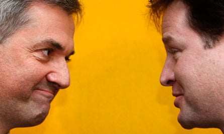 Nick Clegg with Chris Huhne