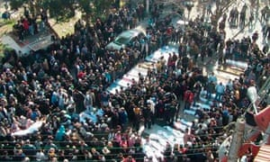 Funeral after the Homs attack