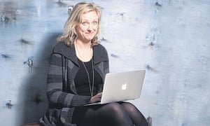 Carole Cadwalladr with her laptop
