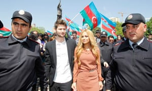 Azeri Eurovision song contest winners Eldr Gasimov and Nigar Jamal