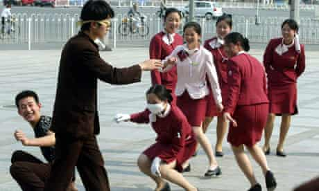 CHINESE RESTAURANT STAFF AT PLAY