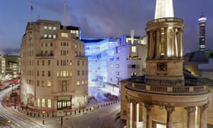 BBC Broadcasting House and its new extension