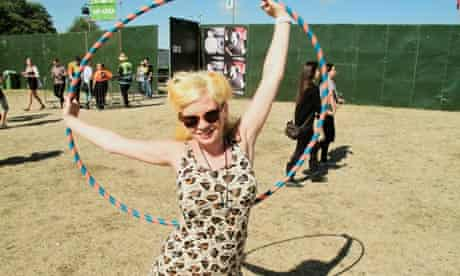 Louise Cattell at the Lovebox festival in 2010