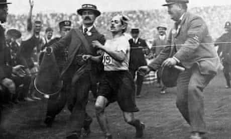 Race Officials Assist Dorando Pietri