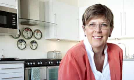 Prue Leith in a kitchen