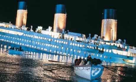 scene from the film Titanic (1997)