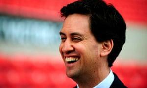 Miliband smiling