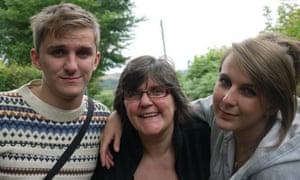 Kate Sherlock with her children