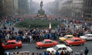 Revolutionaries Gather in Wenceslas Square