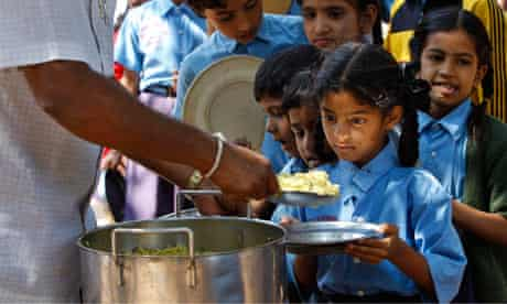 India children being fed