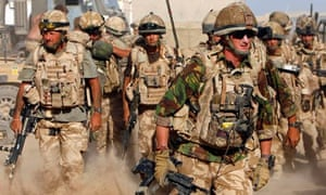 British soldiers from B Company, 2 Mercian on an operation in Malgir, Helmand.