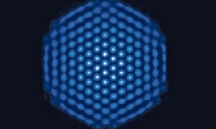 beryllium ion crystal in NIST quantum simulator