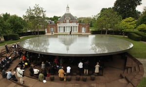 Cloudy day at the Serpentine Gallery Pavilion 2012