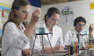 Female science students