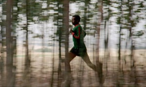 The Athlete: running through trees