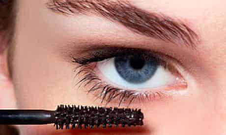 mascara by eye, close-up, cosmetics, make up