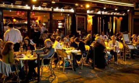 Dining at night, Left Bank, Paris