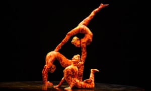 Artists perform during Cirque du Soleil's Kooza show in London
