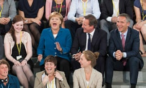David Cameron, Angela Merkel, Jens Stoltenberg