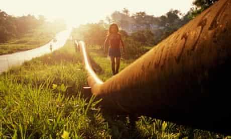 Girl Walking on a SOTE Pipeline