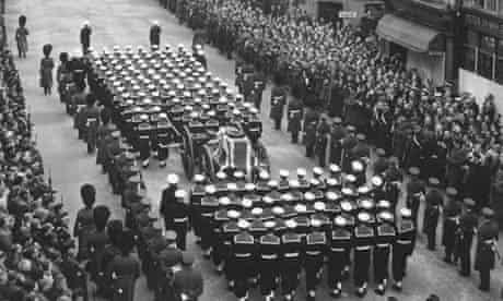 Churchill's funeral procession 1965