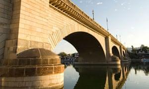 London Bridge in the early morning, Havasu, Arizona, United States of America, North America