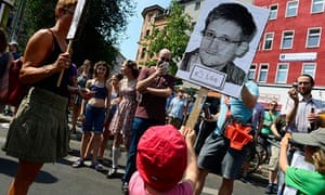 GERMANY-US- INTELLIGENCE-SNOWDEN-PROTEST