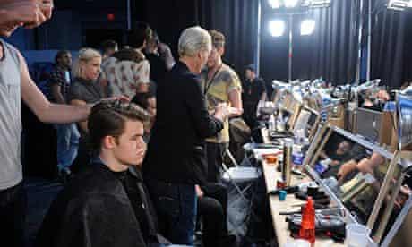 magnus carlsen backstage at a fashion show