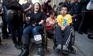 Protesters demonstrate against Atos