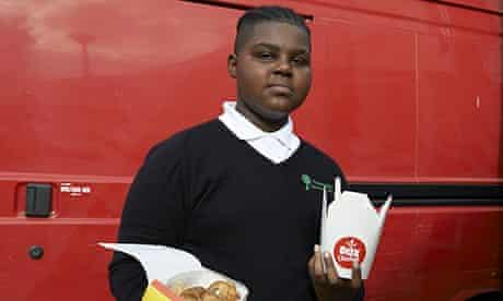 local schoolboy Duval comparing chicken boxes