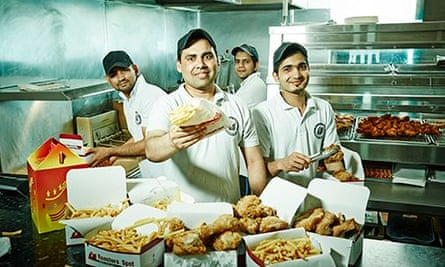 Chicken shop staff including Harris Zahid Bilal and Imran  The Fried Chicken Shop on Channel 4