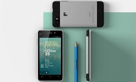 A Fairphone next to a pen