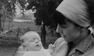 helen jeffreys holding baby david in the 60s