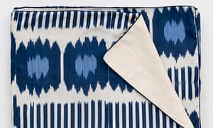 Ikat bedspread by Madeline Weinrib at CoutureLab