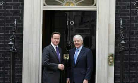 David Cameron Meets With John Major In Downing Street