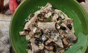straccetti with mushrooms
