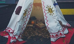 WigWamBam, the teepee rooftop bar at the Queen of Hoxton