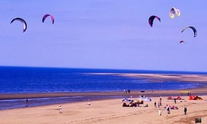 Kites kite flying Old Hunstanton beach